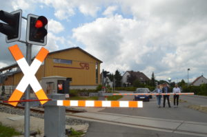 Neue Schrankenanlage in Münsingen