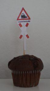 Ein Bahnübergangs-Muffin
